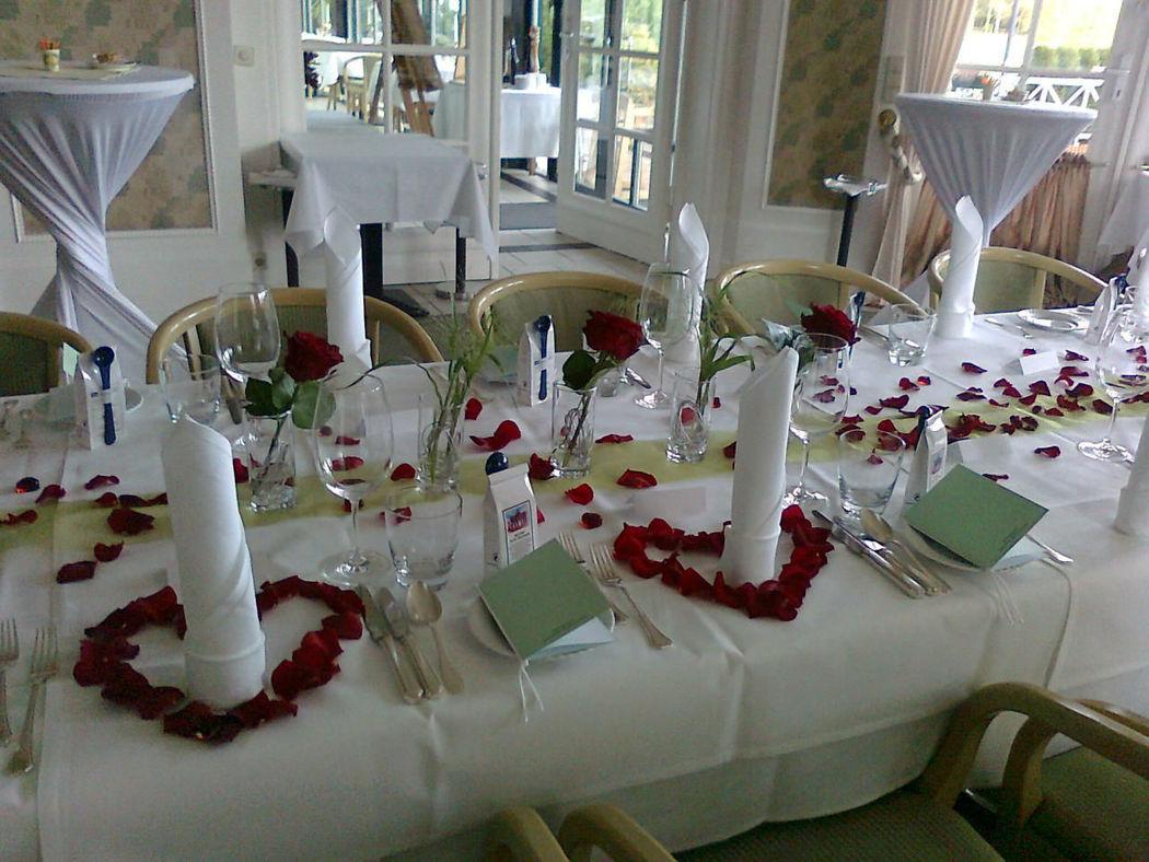 Beispiel: Hochzeitsbankett, Foto: Landhaus am Poloplatz.