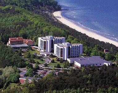Beispiel: Hotel von oben, Foto: Cliff Hotel Rügen.