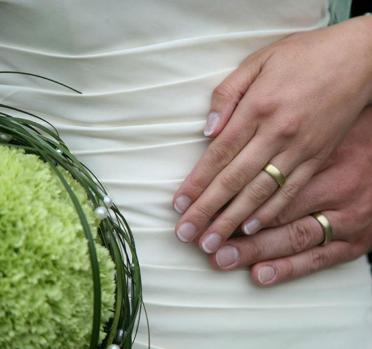 Beispiel: Hochzeitsfloristik, Foto: Blumenhaus am Hofgarten.