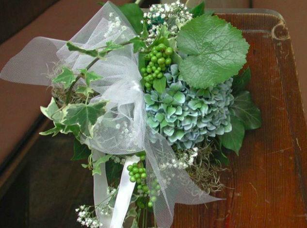 Beispiel: Blumen für die Kirchenbank, Foto: Blumeninsel.