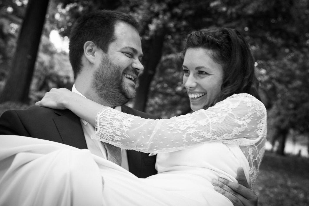 photographe nantes mariage couple mariés noir et blanc portraits