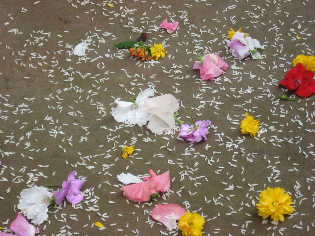 Beispiel: Blumen und Reis, Foto: blumenwerkstatt frankfurt.