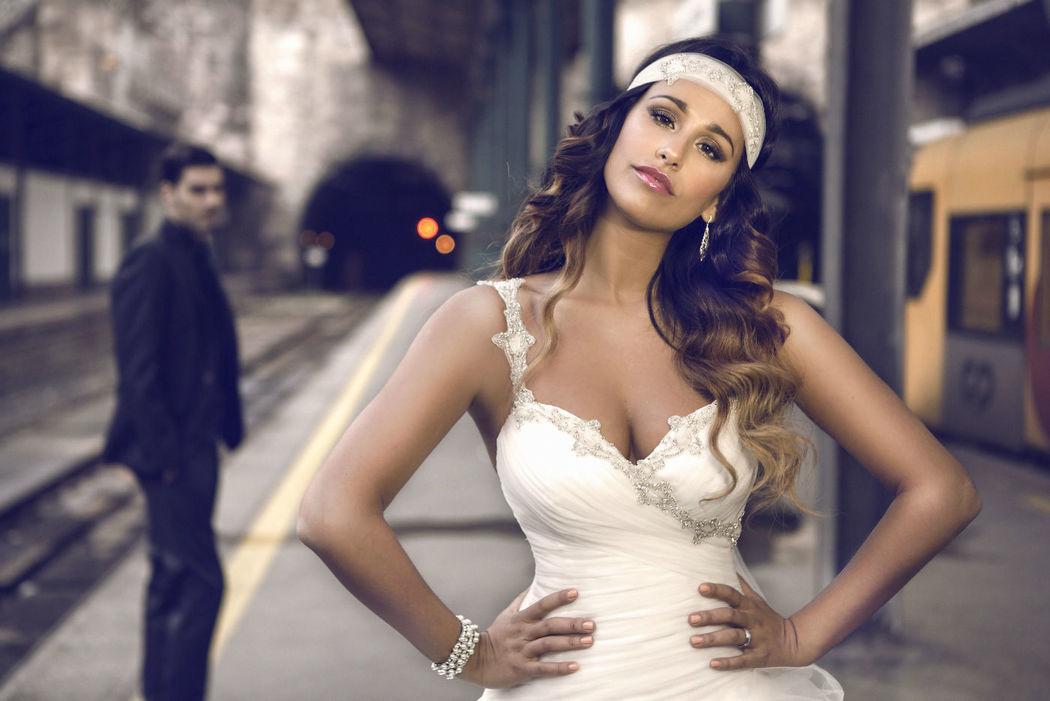 Rita Pereira veste A Bela Noiva