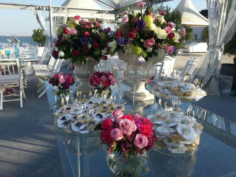 Decoração da mesa no casamento na Costa do Sol - Lisboa
