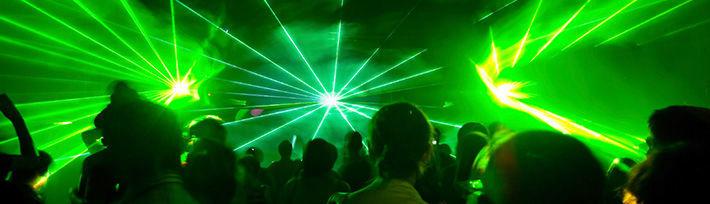 Beispiel: Lichteffekte, Foto: DJ Soundmaster.