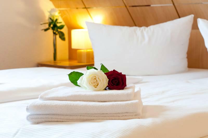 Beispiel: Willkommensgruss, Foto: Hotel Alte Feuerwache.