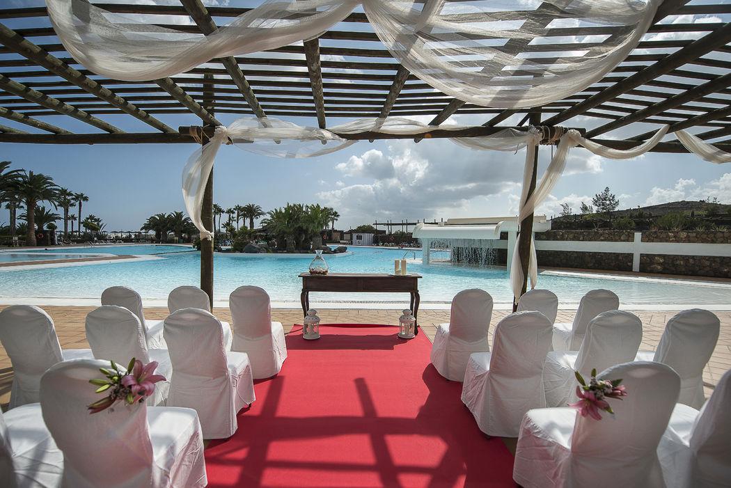 Ceremonia en zona de piscina