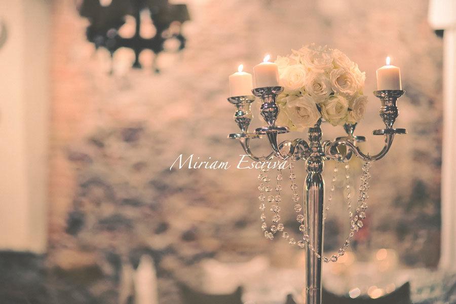 Detalles de una boda romántica