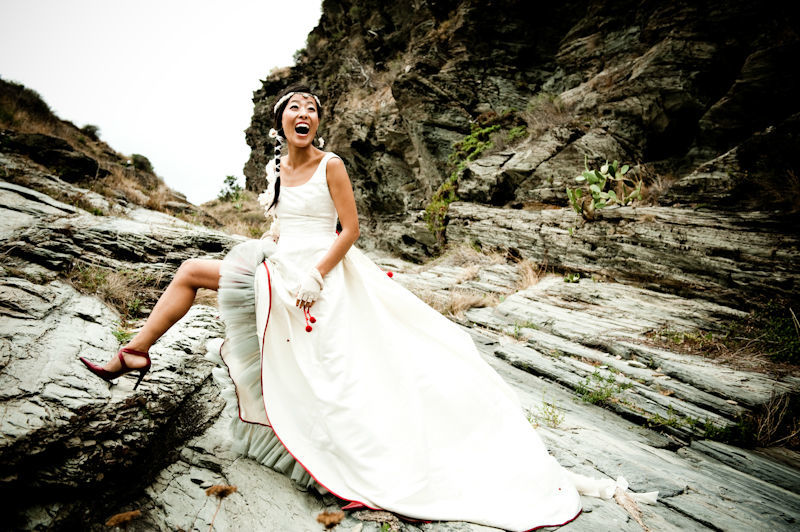 Beispiel: Braut beim Fotoshooting, Foto: Susanne Lencinas.