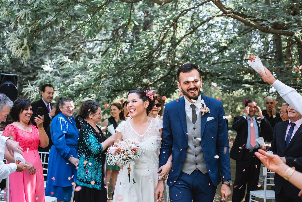 Jaime y Caro recién casados