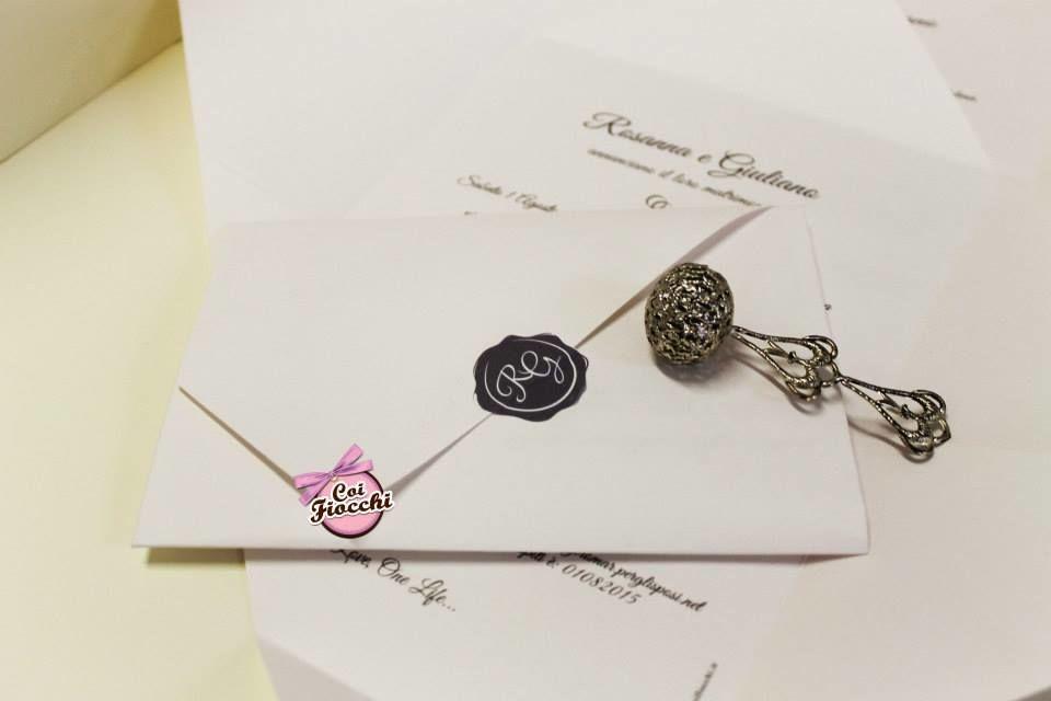 Coi Fiocchi wedding design - invito foglio unico