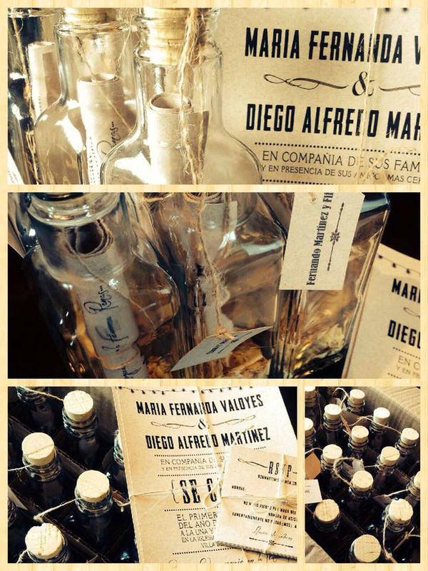 diseño y produccion mensaje en la botella