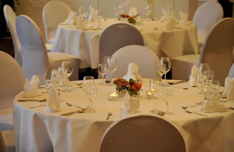Beispiel: Runder Tisch - Tischdekoration, Foto: Borgfelder Landhaus.