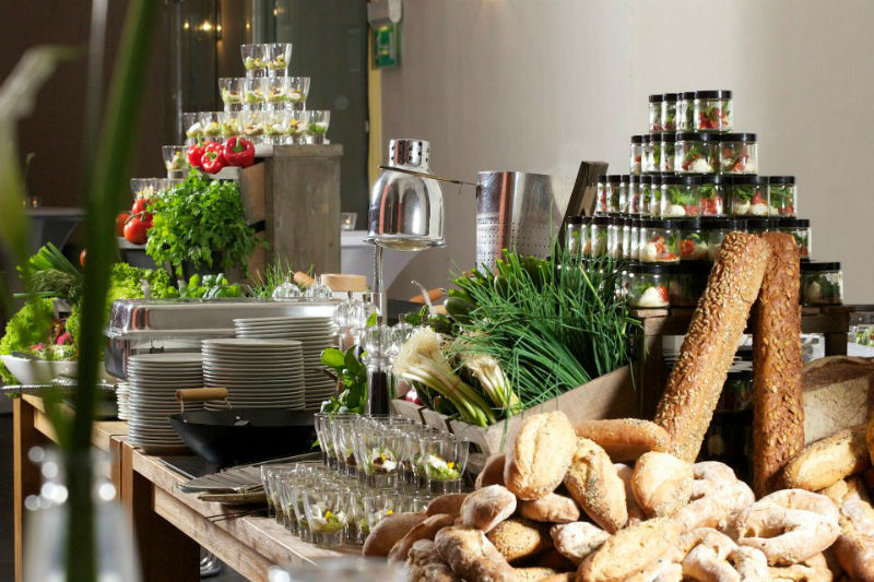 Beispiel: Buffet, Foto: Kreativ Catering.