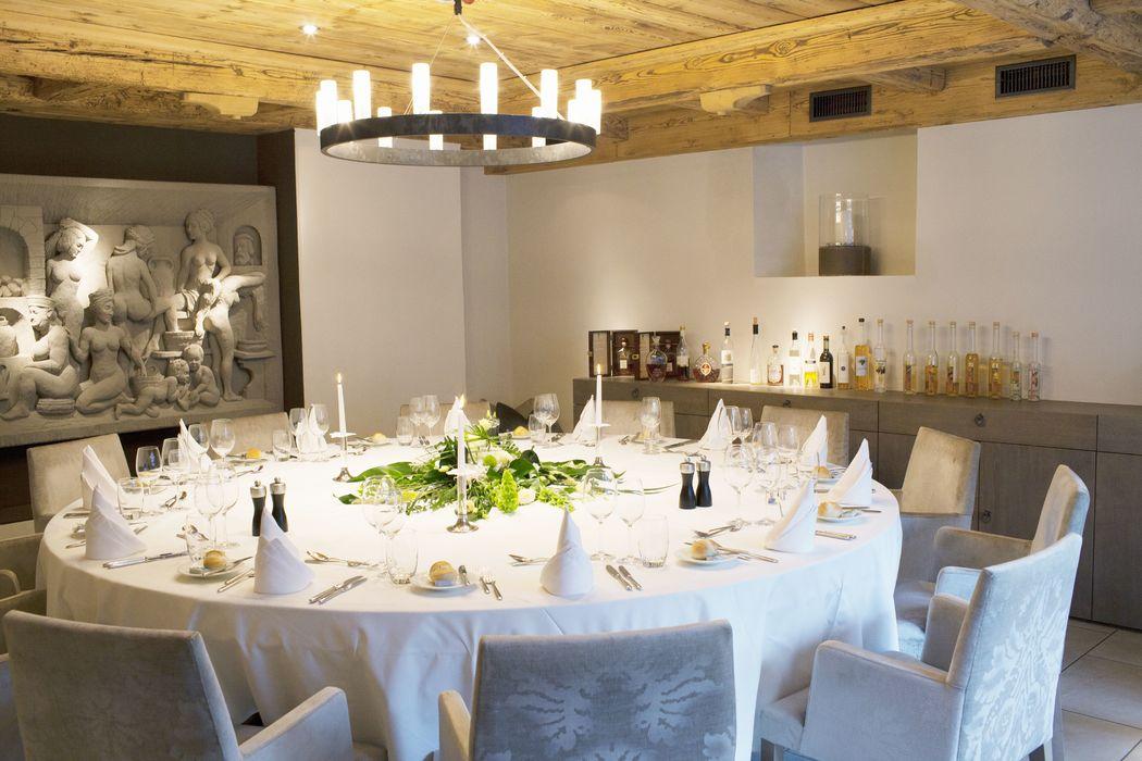 Bankettraum «s'alt Badhüsli» für intime Feiern, Foto: Hotel Bad Bubendorf.