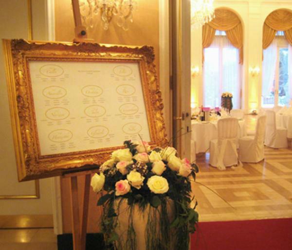 Beispiel: Tischplan, Foto: Kursalon Wien.