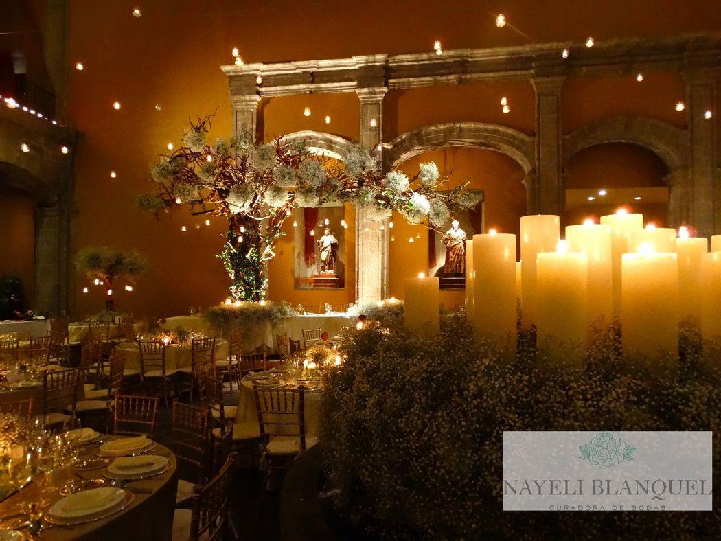 Boda Noche Centro Histórico Ciudad de México. Nayeli Blanquel, curadora de bodas