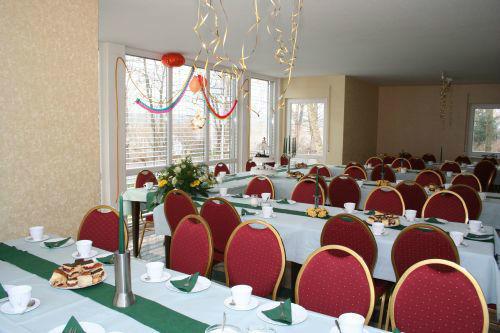 Beispiel: Kaminzimmer - Bankett, Foto: Villa am Habermannsee.
