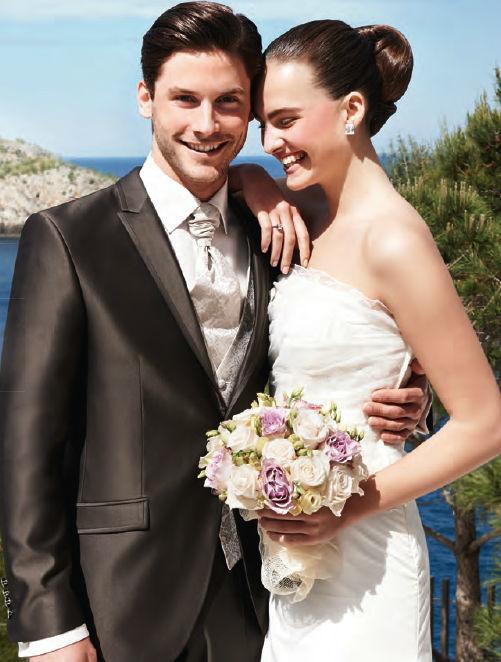 Beispiel: Hochzeitsmode, Foto: Eva's Braut- & Abendmoden.