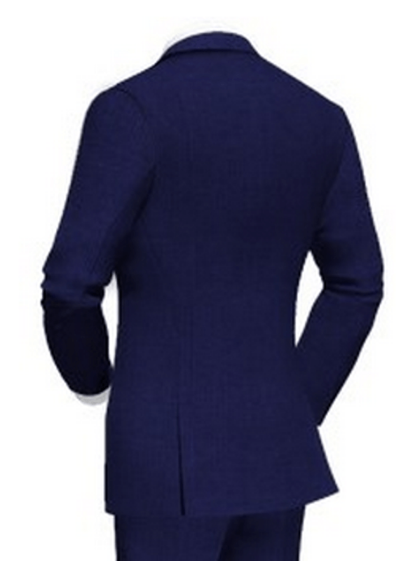 Beispiel: Hochzeitsanzug blau - Rückansicht, Foto: Poshodorosuits.