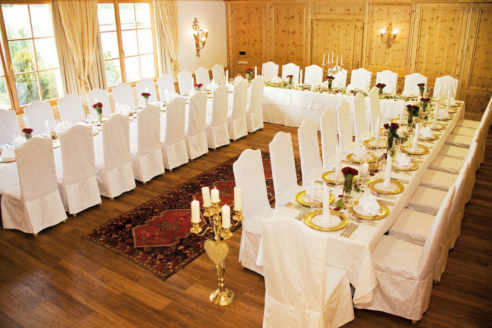 Beispiel: Festtafel, Foto: Garten Hotel Maria Theresia.