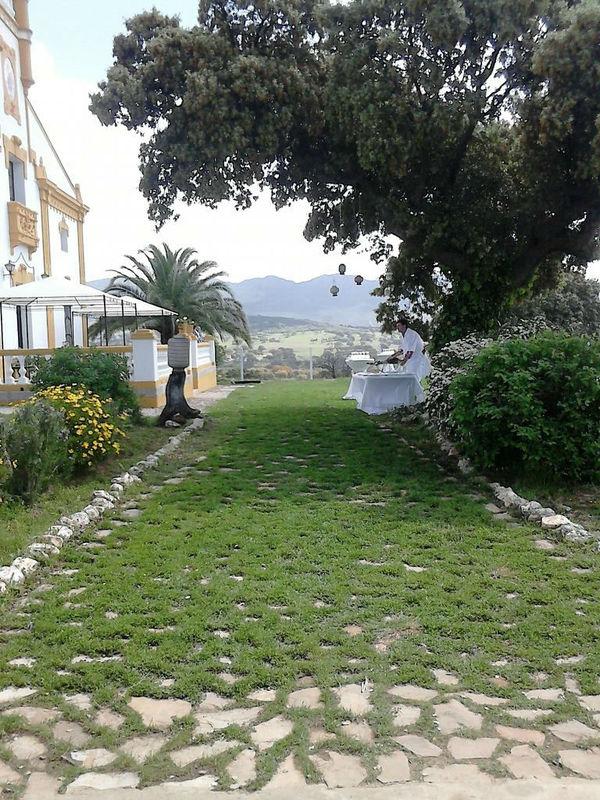 Vista entrada zona jardín