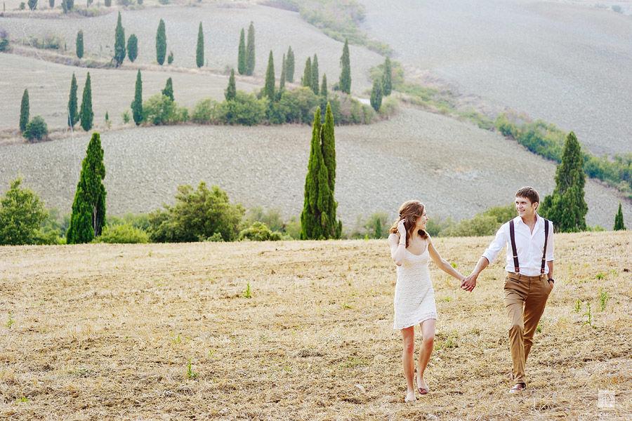 Романтическая фотосессия в Тоскане