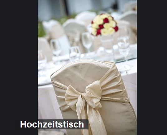 Beispiel: Hochzeitstisch, Foto: Martinspark Hotel Dornbirn.