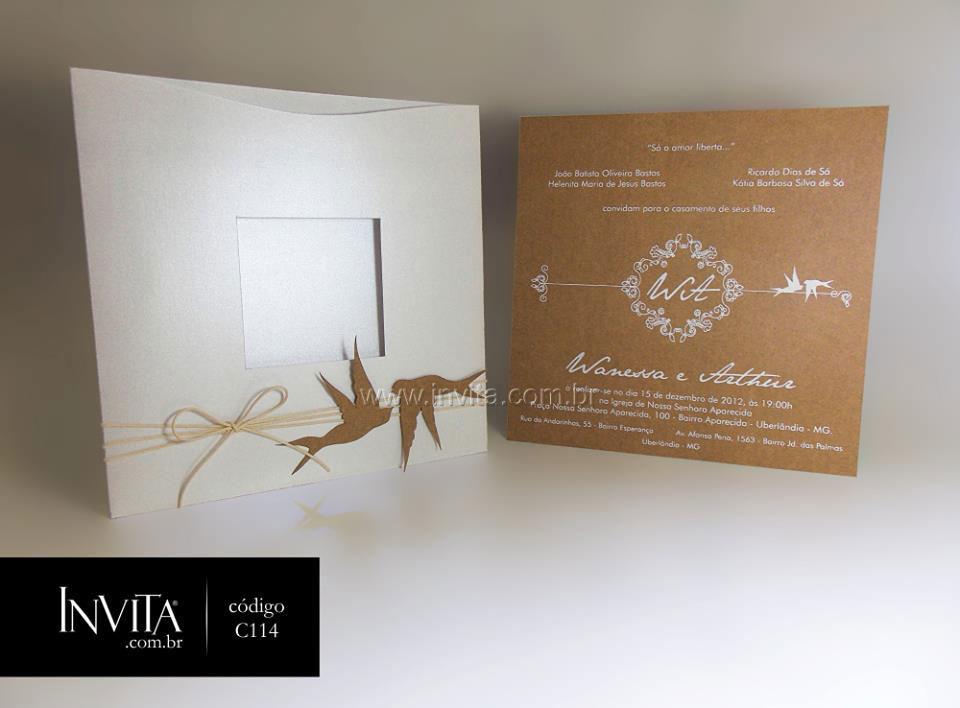 Convite Rústico Chique - Cód.: C114