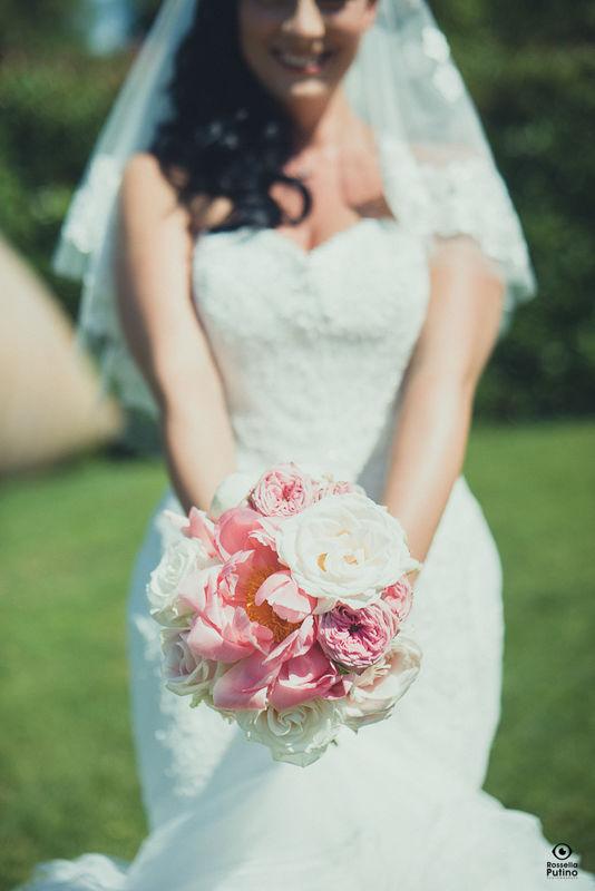 Fiordifragola - bouquet sposa - bride bouquet - Villa Bossi photo By Rossella Putino
