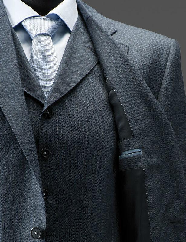 Beispiel: Elegante Anzüge für Herren, Foto: Tricia Ze.