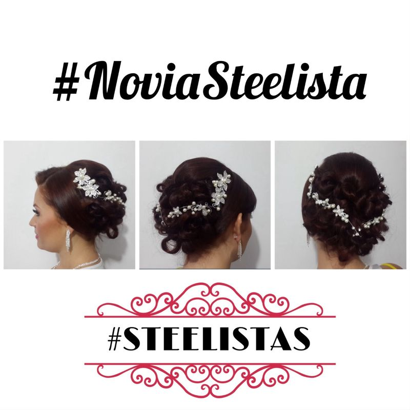 #NoviaSteelista  Peinado Recogido ( Updo) Http://angelosteel.com