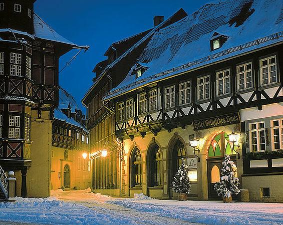 Beispiel: Ansicht im Winter, Foto: Travel Charme Gothisches Haus.