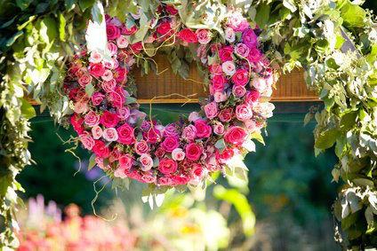 Beispiel: Hochzeitsfloristik, Foto: tageundzeiten