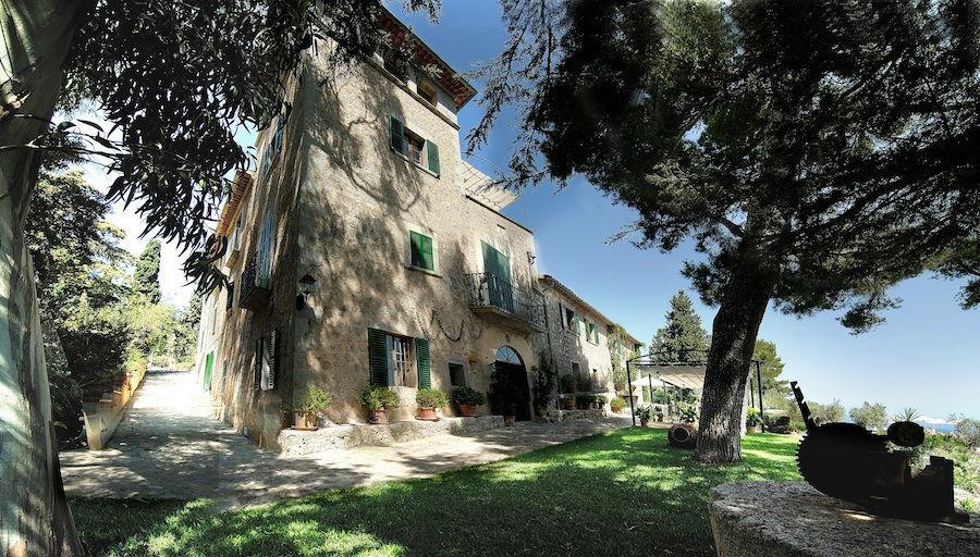 Boda en una hotel rural o una finca en Mallorca von vistas al mar