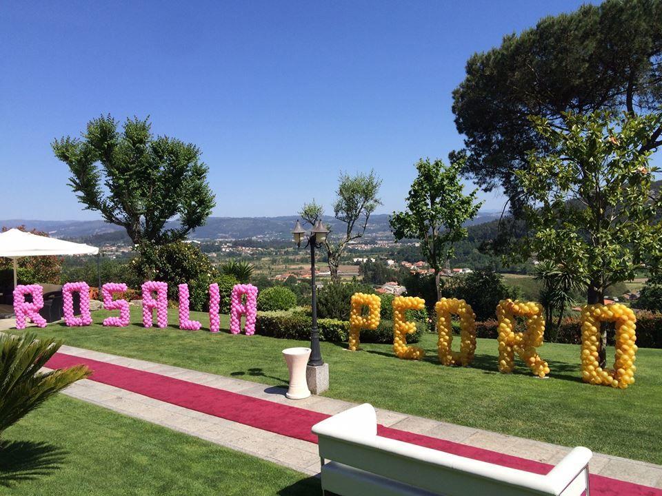 Letras em Balão com o nome dos noivos