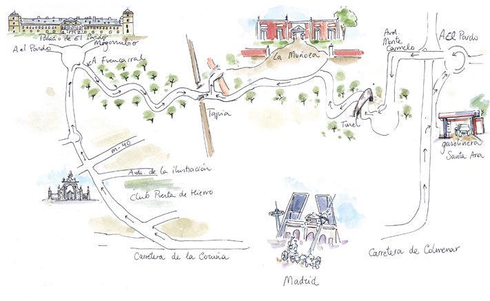 Plano de acceso a la Quinta la Muñoza
