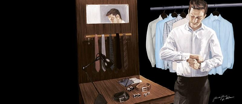 Beispiel: Accessoires, Foto: Alferano Männer Mode.