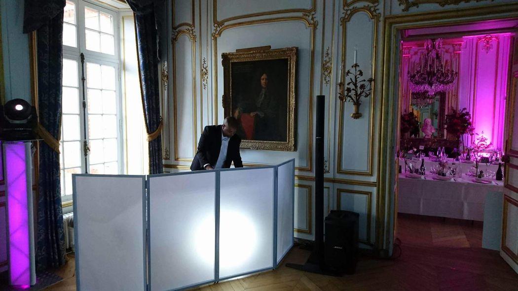 Prestation dj, sonorisation et éclairage  mariage château de Breteuil