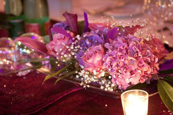 Beispiel: Blumendekoration, Foto: Hochzeitsorganisation Barbara Donabauer.