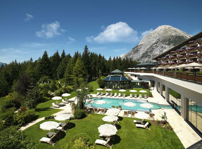 Beispiel: Sonnenterasse, Foto: Interalpen Hotel.