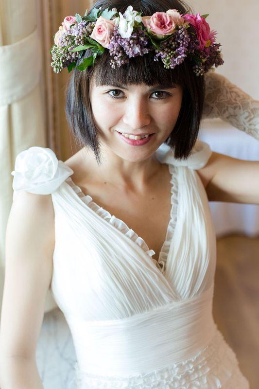 Momentaufnahme der Braut