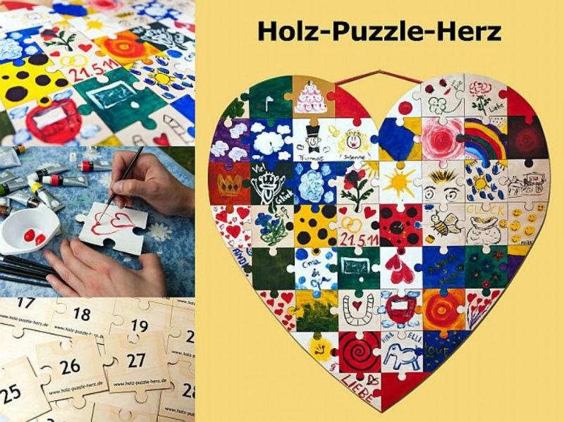 Beispiel: Holz Puzzle Herz