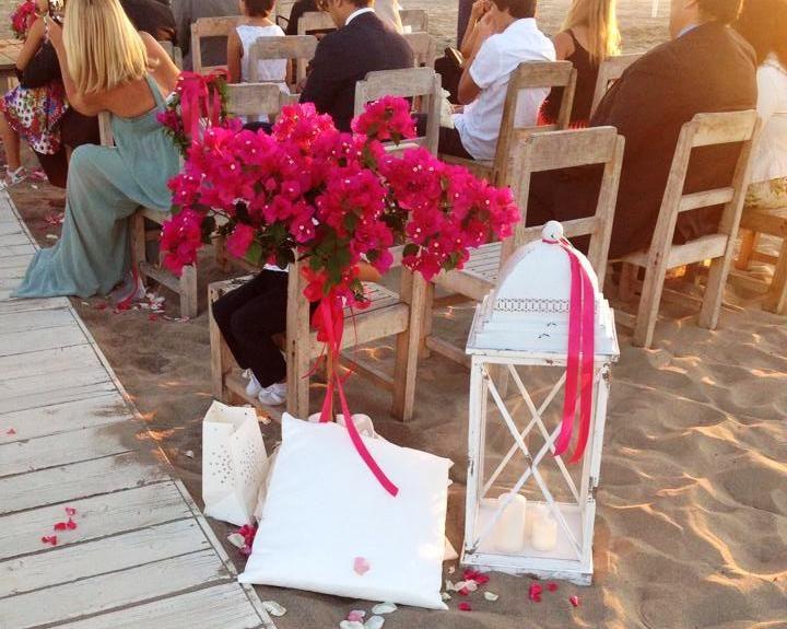 Matrimonio in spiaggia. Allestimenti