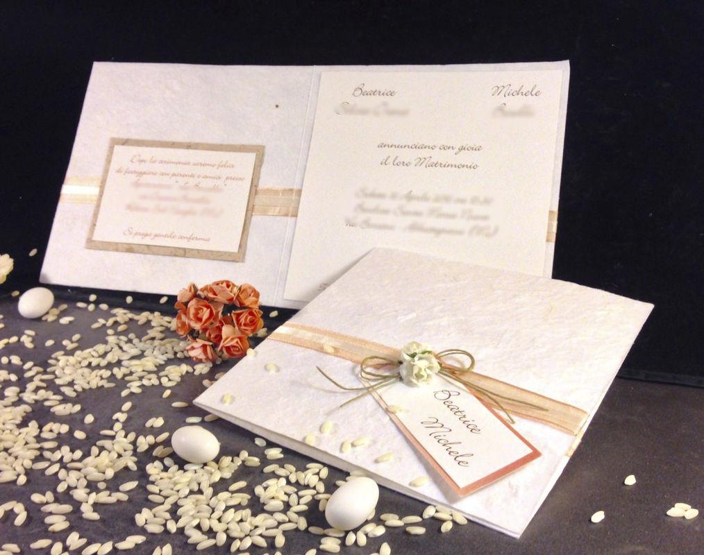 Partecipazione nozze country con corda www.stampaecrea.it
