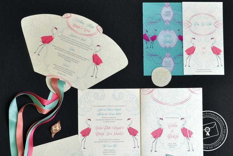 Beispiel: Individuelle Einladungen, Foto: Die exklusiven Einladungskarten.