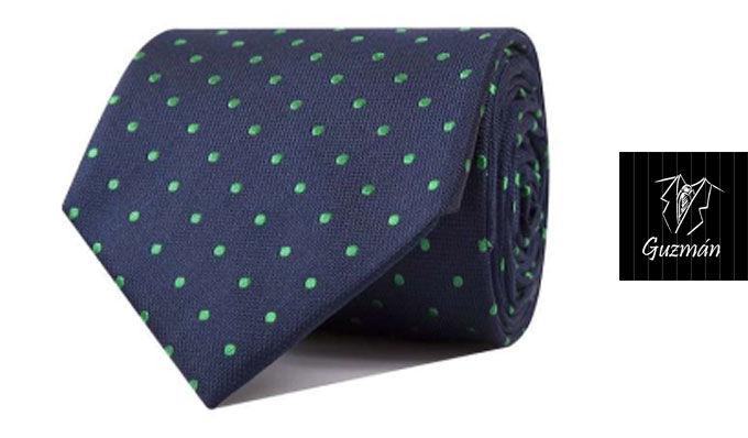 Corbata de topos verdes