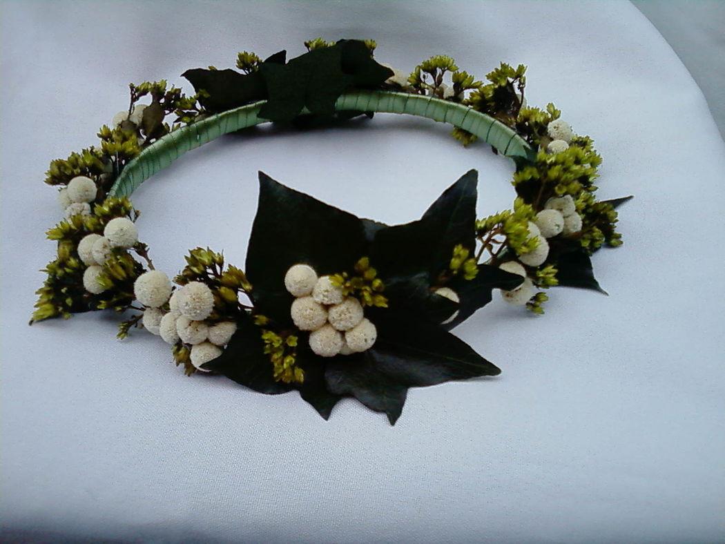 Flor de Cór - guirlanda de folhagens naturais preservadas