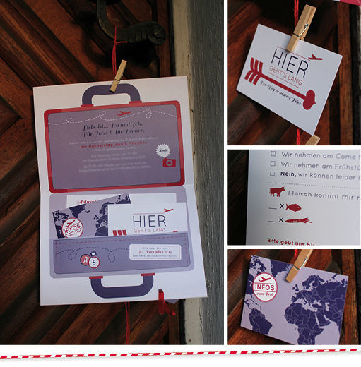 Beispiel: Einzigartige Hochzeitseinladungen, Foto: Ein Stück vom Glück.