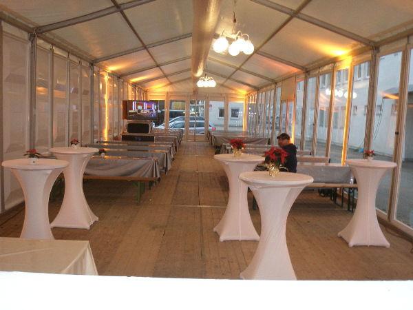 Beispiel: Stehempfang, Foto: Skyline Catering & Event's.